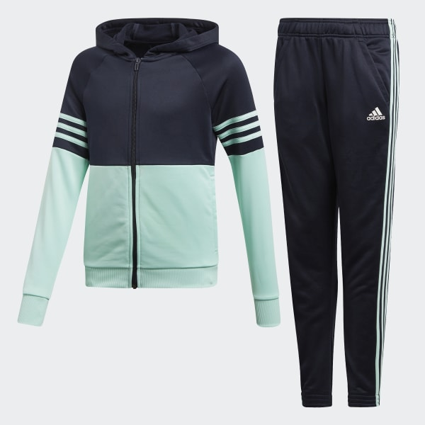 Hooded Track Suit Blue DI0166