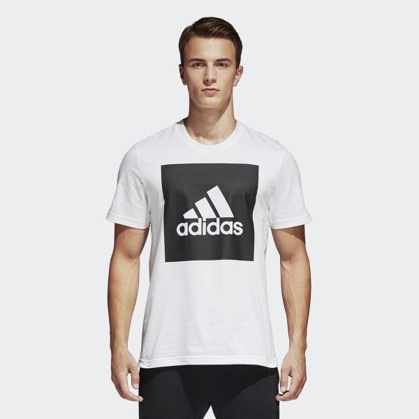 Camiseta Essentials Box Logo Blanco B47358