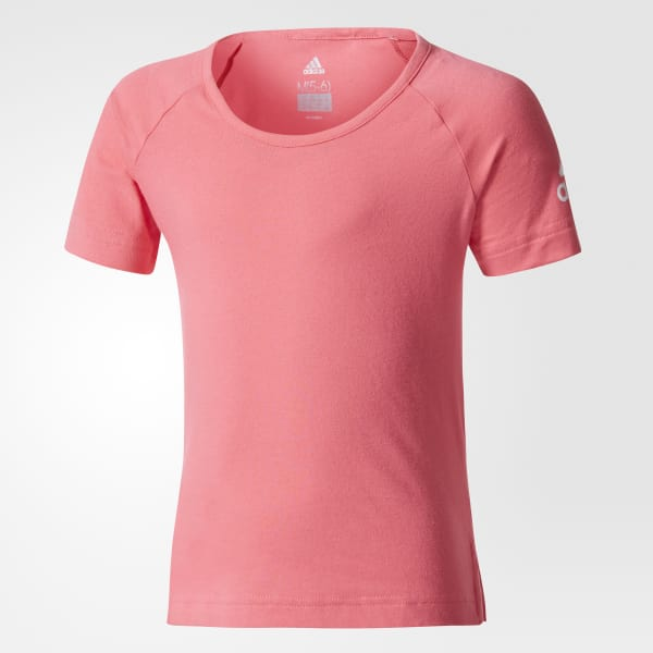 Camiseta Algodón Little Girls Rosa CE9827