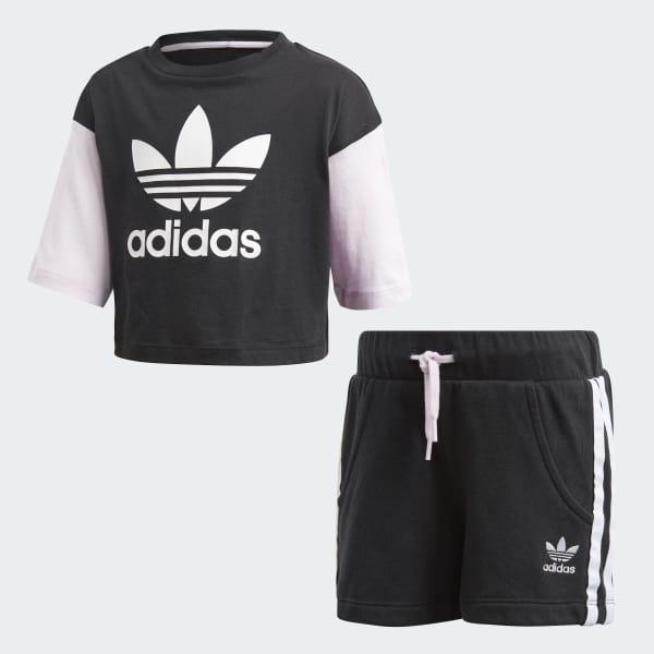 Conjunto Shorts y Camiseta Negro CE1130