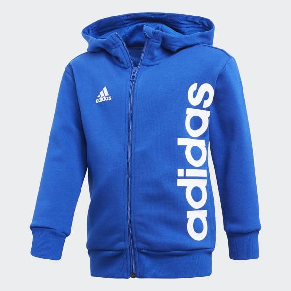 Veste à capuche Little Kids Full Zip bleu CF6622