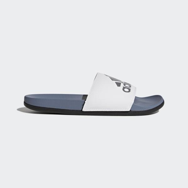 Adilette Cloudfoam Plus Logo Slides Grey AC8412