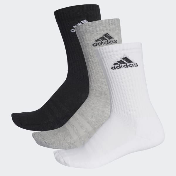 3-Streifen Performance Crew Socken schwarz AA2299