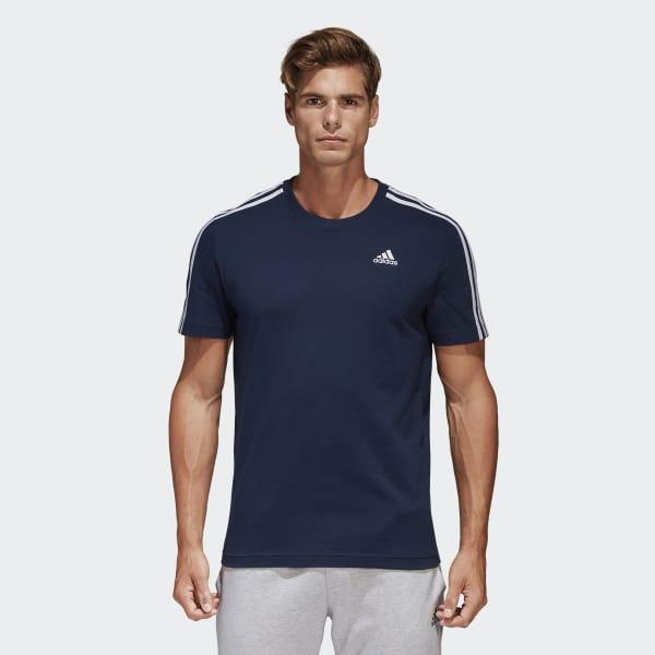 Camiseta Essentials Classics 3 bandas Azul B47359