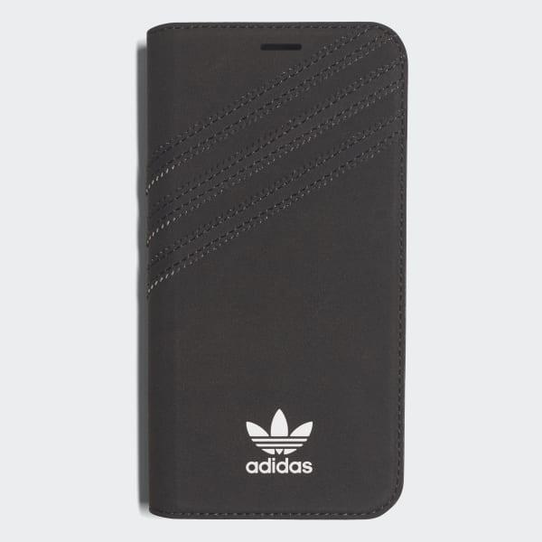 Booklet Case iPhone X Suede Black CJ1295