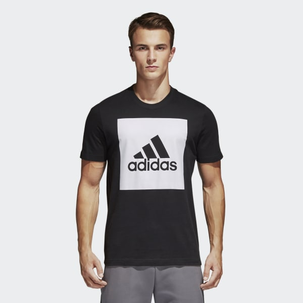 T-shirt Essentials Box Logo Nero S98724