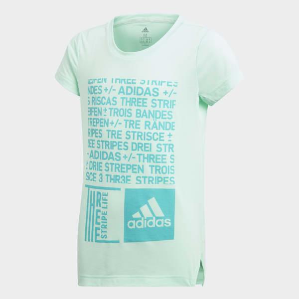T-shirt Training Graphic Turchese DJ1093