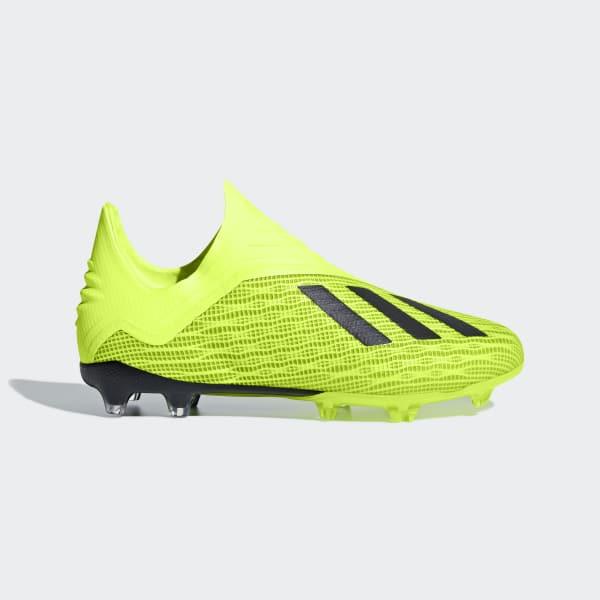 Calzado de Fútbol X 18+ FG J Amarillo DB2284