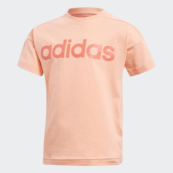 T-shirt Little Kids Linear Arancione CF6618