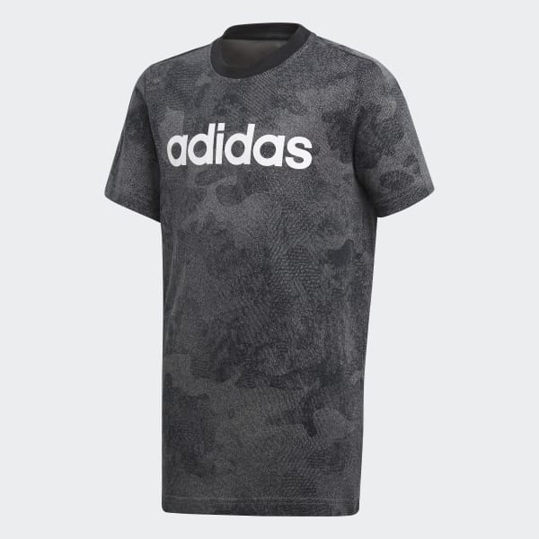 Camiseta Essentials Linear Gris CF6494