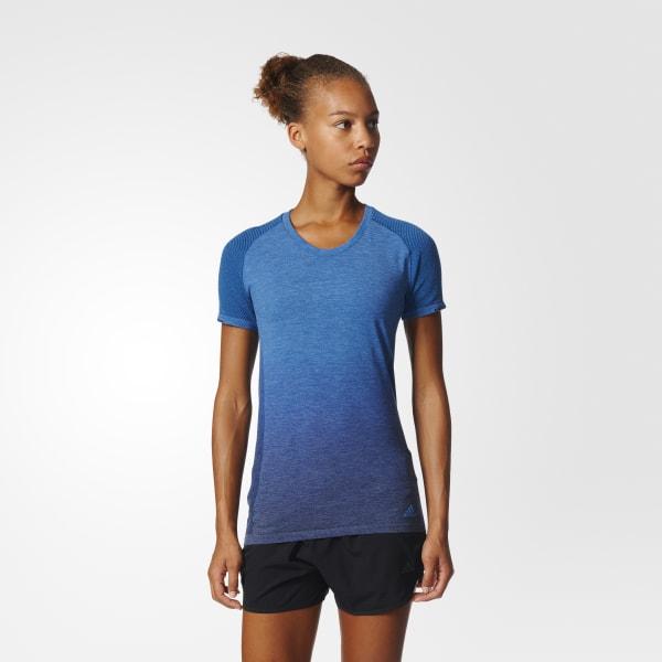 T-shirt Primeknit Wool Dip-Dye bleu AZ2895