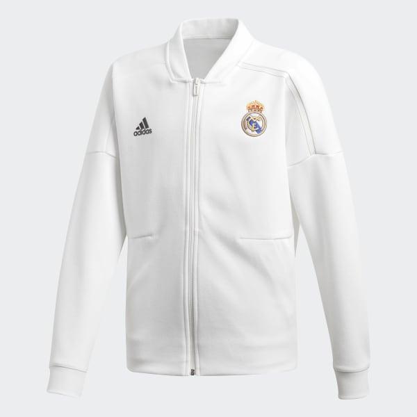 Real Madrid adidas Z.N.E. Jacke weiß CY6108
