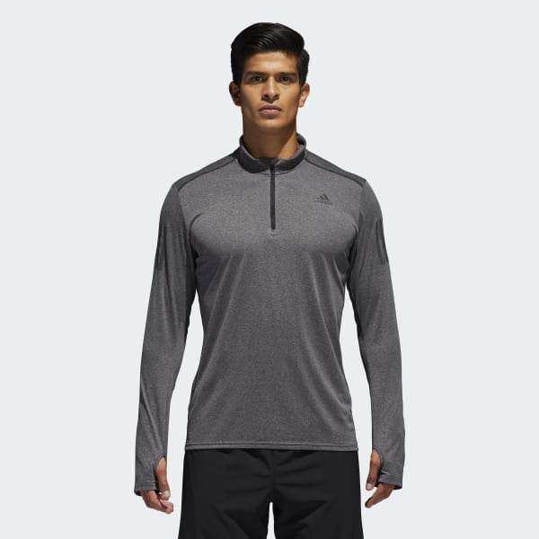 Response 1/2 Zip Long Sleeve Tee Grey B47699