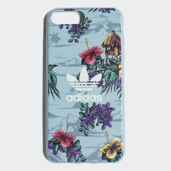 Custodia Floral Snap iPhone 8+ Blu CJ8321