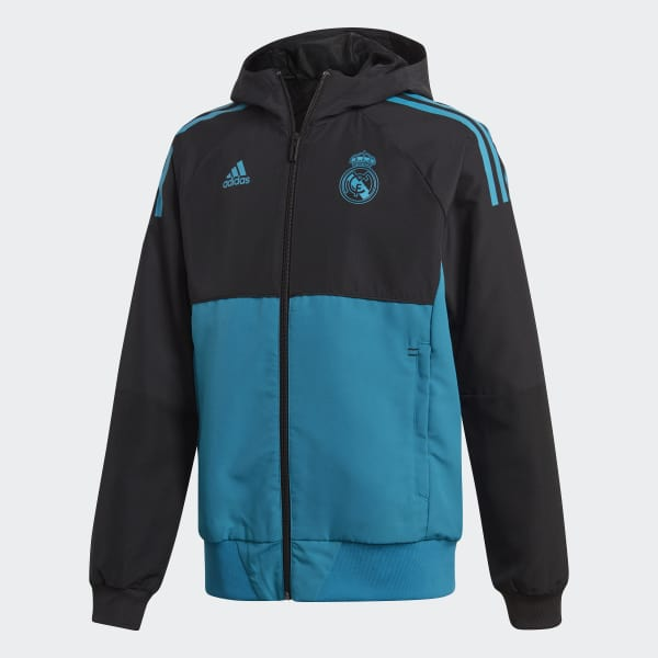 Real Madrid UCL Presentation Jacket Black BQ7832