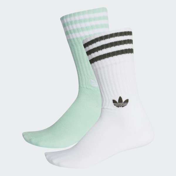 Solid Crew Socks 2 Pairs Turquoise DH3362
