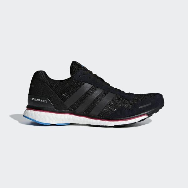 Adizero Adios 3-schoenen zwart AQ0192