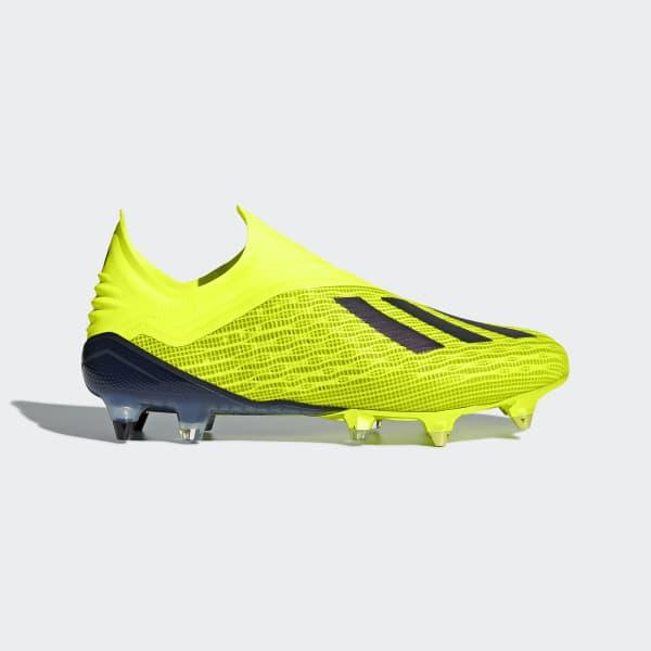 X 18+ Soft Ground Voetbalschoenen geel DB2226