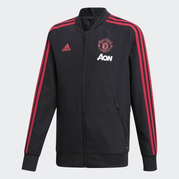 Manchester United Präsentationsjacke schwarz CW7631