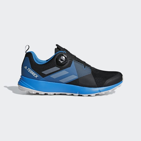 Zapatillas Terrex Two Boa CORE BLACK/GREY ONE F17/BRIGHT BLUE AC7903