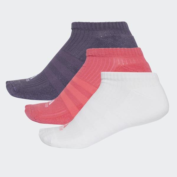 3-Stripes No-Show Sokken 3 Paar roze CF7344