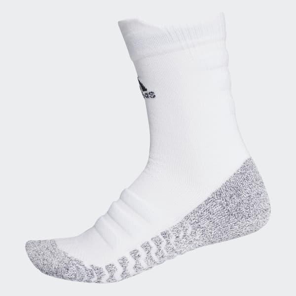 Alphaskin Traxion Lightweight Cushioning Crew Socks White CG2674