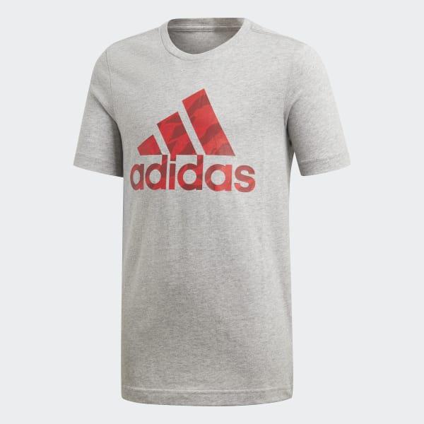 Badge of Sport T-shirt grijs DI0365