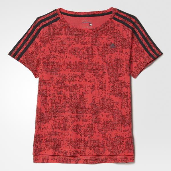 Essentials 3-Streifen Allover Print T-Shirt rot AY4768