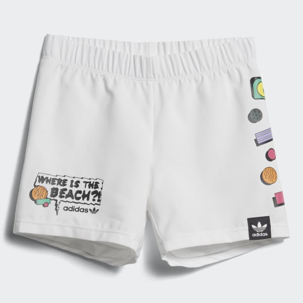 Collective Memories Swim Shorts White CD8031