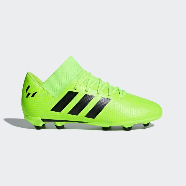 Calzado de Fútbol Nemeziz Messi 18.3 Terreno Firme Niño Verde DB2367