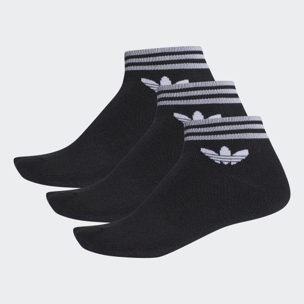 Trefoil Ankle Socks 3 Pairs Black AZ5523