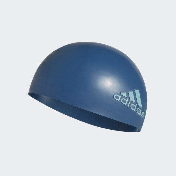 Cuffia da nuoto silicone logo Blu DH3308