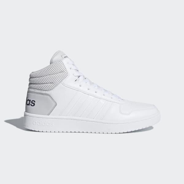 Chaussure Hoops 2.0 Mid blanc DB0106