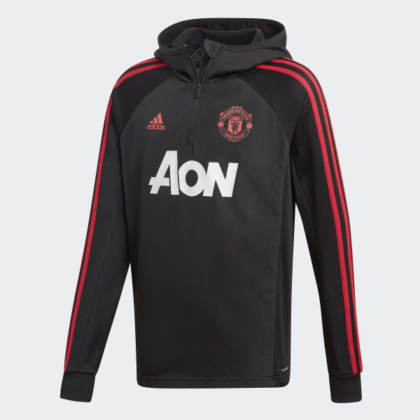 Manchester United Warm Top Black CW7588
