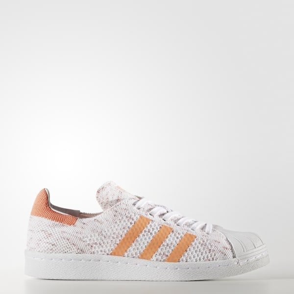 Superstar 80s Primeknit Shoes Orange BY9206
