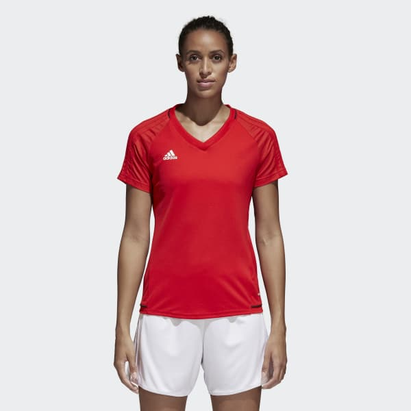 Tiro17 Training Voetbalshirt rood BP8560