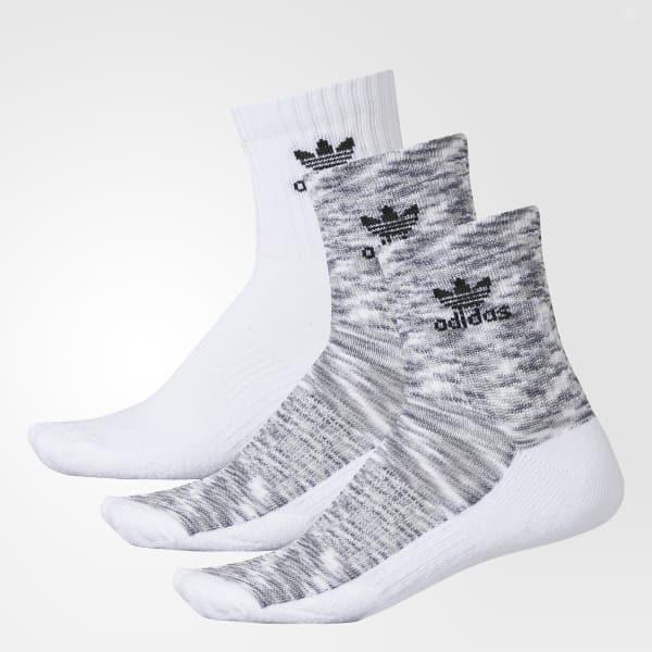 Roller Space Dye Quarter Socks 3 Pairs White CH7684