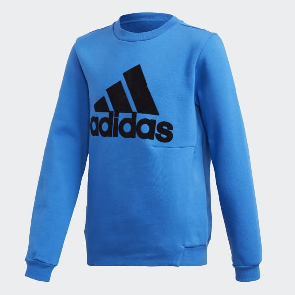 Sweat-shirt ID Crew bleu DJ1474