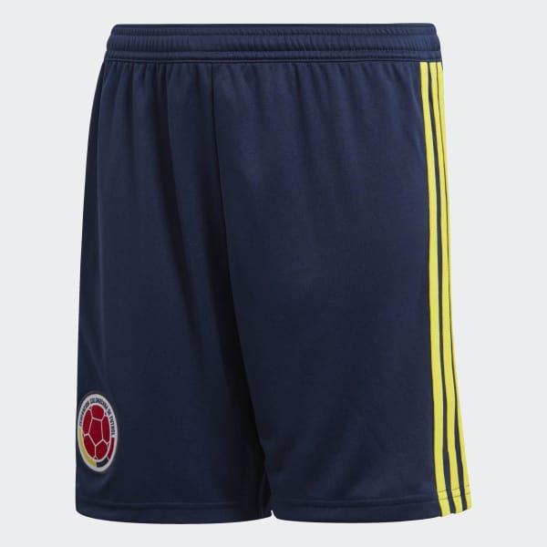 Pantaloneta Oficial Selección de Colombia Local Niño 2018 Azul BR3503