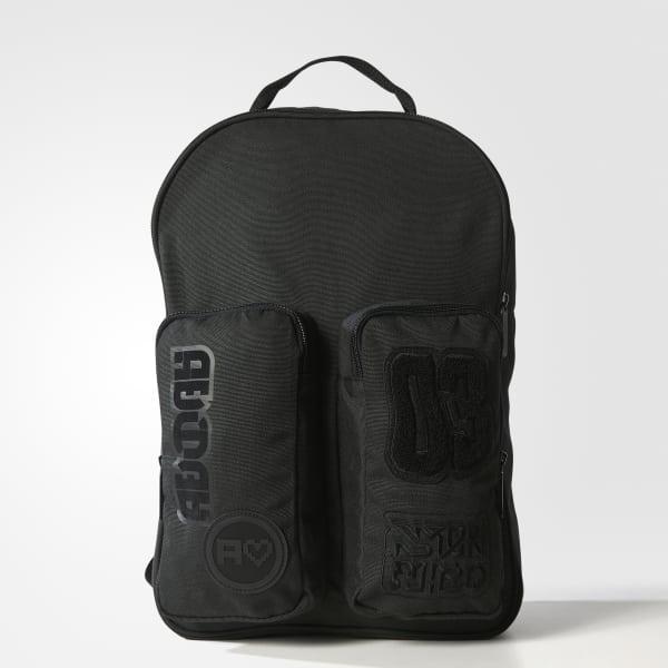 Zaino Badges Classic Nero BQ8126