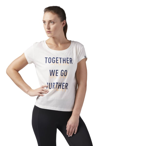 FURTHER TOGETHER EASY TEE Chalk CF4461