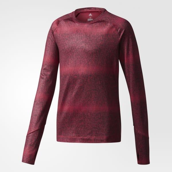 T-shirt Training Warm rouge CD8936