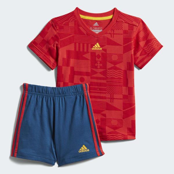 Conjunto verano Football Rojo CF7417
