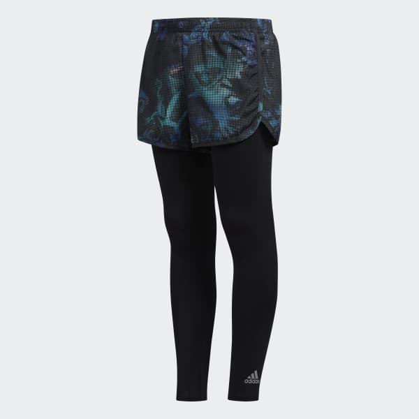 2-in-1 Shorts and 7/8 Tights Blue CK5357