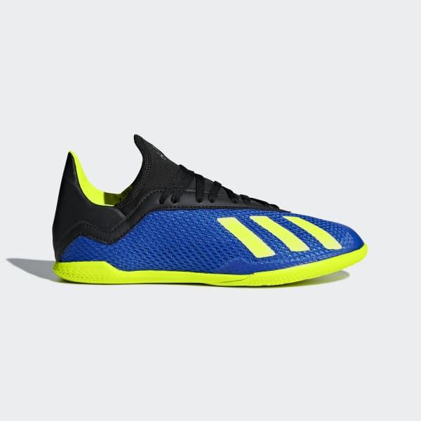 Calzado de fútbol X Tango 18.3 Superficies Interiores Niño FOOTBALL BLUE/SOLAR YELLOW/CORE BLACK DB2425