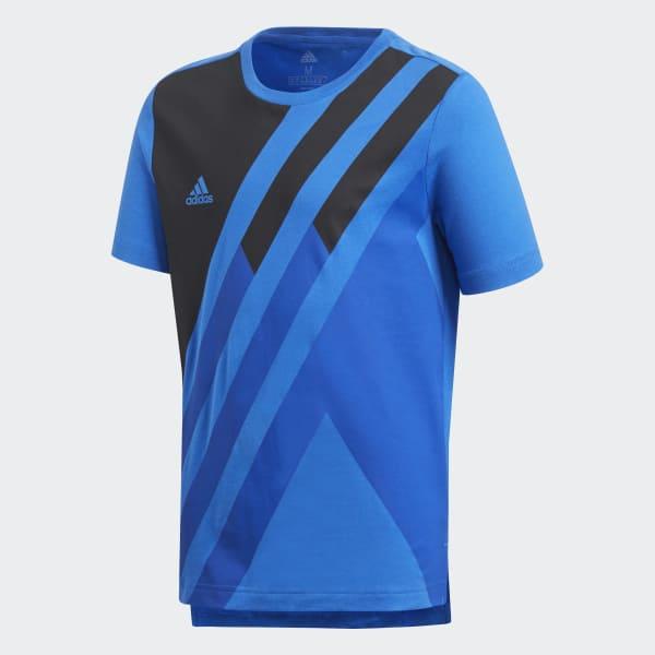 X T-shirt blauw DJ1263