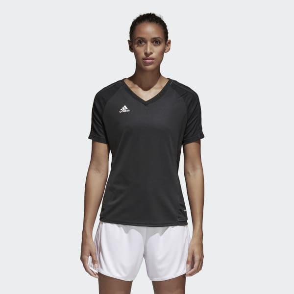 Tiro17 Training Voetbalshirt zwart AY2859