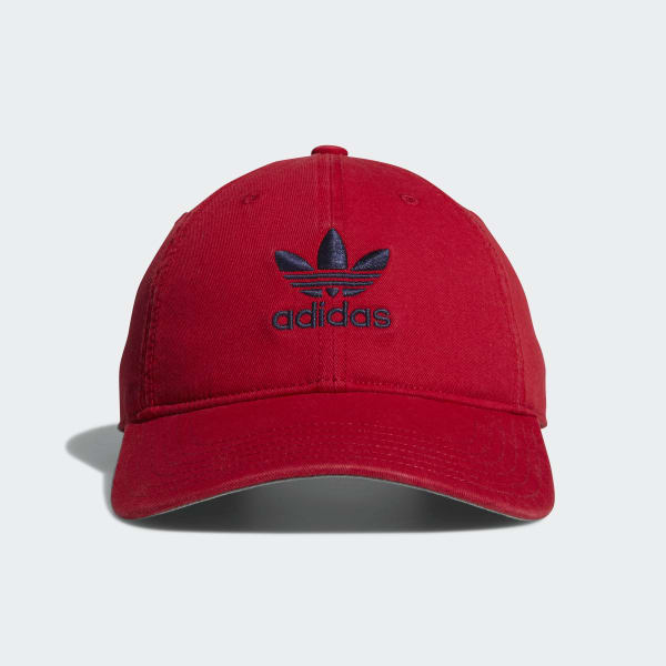 Relaxed Strap-back Hat Red CI7678