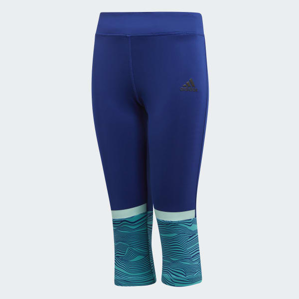 Training 3/4-Tight blau DJ1071