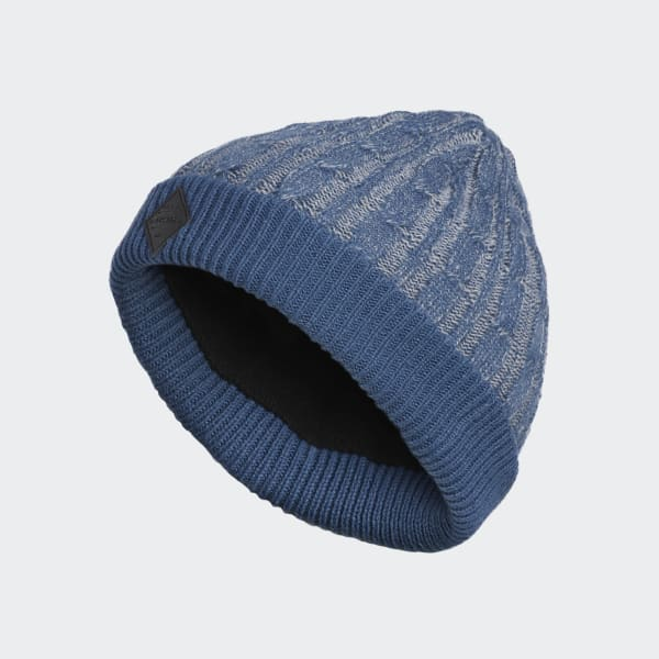 Cable-Knit Beanie blauw CY7510